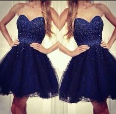 Short Navy Blue Prom Dresses,Sweetheart Homecoming Dresses,Beading Homecoming Dresses,#simibridal