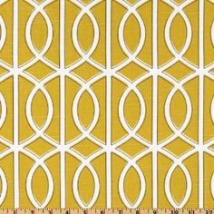Dwell Studio Belle Porte in citrine (Gate is the heavier fabric)