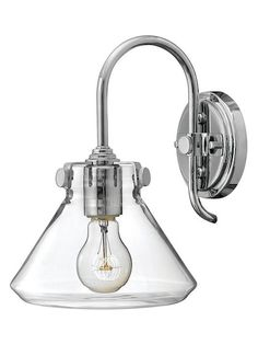 Congress Funnel-Like Chrome Sconce by Hinkley Lighting at Gilt