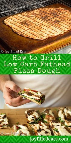 How to Grill Low Carb Fathead Pizza Dough