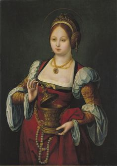 """María Magdalena"" Autor: Anónimo Pintura 1530-1535 61,3 x 43,7 cm Museu Nacional d'Art de Catalunya"