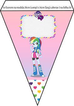 Kit Equestria Girls ( My Little Pony ) Equestria Girls, Festa Do My Little Pony, Girl Birthday, Birthday Parties, Happy, Kids, Printables, Sticker, Pony Party