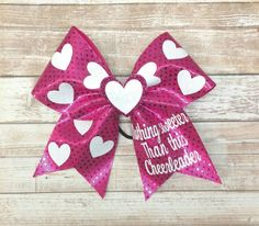 Valentines cheer bow https://www.etsy.com/listing/500203799/valentines-day-cheer-bow-hot-pink-cheer