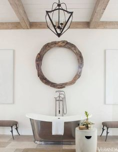Antique & modern bath / Design Richard Hallberg