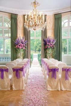 Victorian weddings...i love this, minus the purple. green instead!
