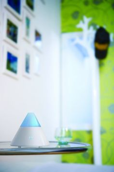"""This is an aromatherapy diffuser. Here are tips on where to buy them, how to use them and how to keep them clean: http://moderndaymoms.com/tips-on-buying-using-cleaning-aromatherapy-diffusers/  We use a few of these around our house and depending on the day, fill it with different essential oils. Today, my daughter and I are sick so I have """"Clear The Air"""" by Now Foods. It is a blend of peppermint, rosemary and eucalyptus."""