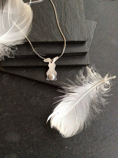 Bunny Pendant in Sterling Silver x