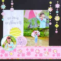 Layout using CM Bouquet Flower Punch