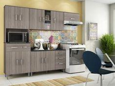 Cozinha Compacta Poliman Móveis Inovare Vitória - 8 Portas 1 Gaveta com as melhores condições você encontra no Magazine Edisonmaciel. Confira!