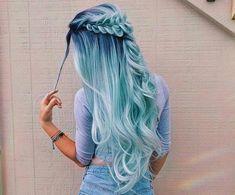 Beautiful hair color by sarahx Cute Hair Colors, Pretty Hair Color, Beautiful Hair Color, Hair Dye Colors, Different Hair Colors, Pretty Hairstyles, Braided Hairstyles, Blue Hairstyles, Amazing Hairstyles