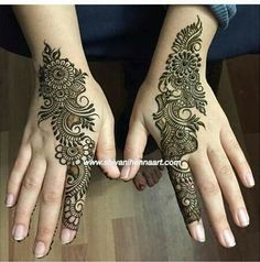Pretty Henna Designs, Indian Henna Designs, Finger Henna Designs, Simple Arabic Mehndi Designs, Mehndi Designs For Girls, Mehndi Designs For Beginners, Modern Mehndi Designs, Dulhan Mehndi Designs, Mehndi Design Pictures