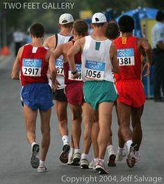 Men's Olympic Walk - Photo by Jeff Salvage Walk For Life, Race Walking, Walking Program, Feet Gallery, Fitness Nutrition, Marathon, Olympics, Racing, Exercise
