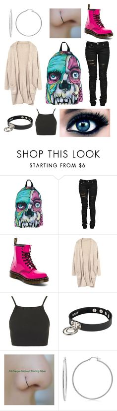 """""""Untitled #242"""" by gerxrdwxy ❤ liked on Polyvore featuring Iron Fist, Denim of Virtue, Dr. Martens, Topshop, Sterling Essentials, tumblr, weird, Inspired, grunge and alternative"""
