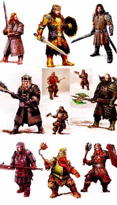 Hobbit BOTFA Dwarf Armor Designs