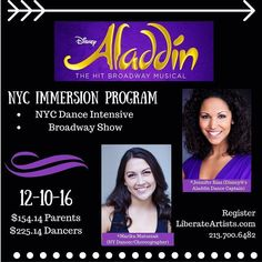 LA is going to Broadway! Join Liberate Artists for an amazing NYC experience open to all friends of LA. An NYC dance Intensive with @marikamatuszak and @jcarmenrias then tickets to see Aladdin on Broadway. It's going to be amazing!! Link in bio.  #liberateyourart #dance #nyc #dancelove #broadway #masterclass #newyorkcity