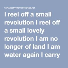I reel off a small revolution, poem by Lucebert
