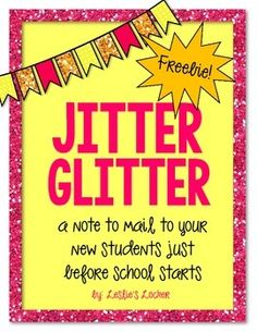 FREE!! Help ease any nerves that your new friends may have about starting school this year! This is a letter to send to them, in the mail, a few days before school starts. I stick mine in an envelope with some glitter for them to sprinkle under their pillow the night before school. This set includes a 2 colored versions, and a black and white one.
