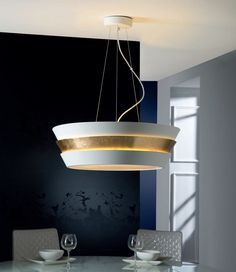 Round Lacquered Metal Pendant...stylish dining room light.