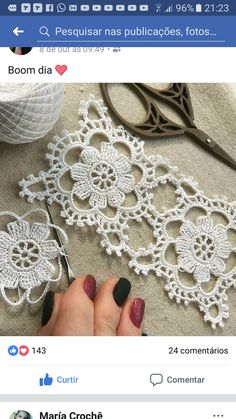 Crochet snowflakes christmas decorations set of 6 crochet etsy One of the most beautiful crochet works I have ever seen. Crochet Wool, Crochet Motifs, Crochet Cushions, Crochet Tablecloth, Crochet Squares, Thread Crochet, Irish Crochet, Crochet Doilies, Crochet Flowers