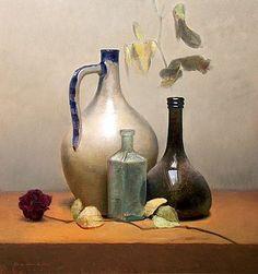 Stilleben mit getrockneter Rose, 46x49cm, 2010.VERKAUFT