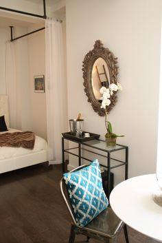 Achados de Decoração, blog de decoração, decoração de kitnet, decoração de quitinete, decoração de apartamentos pequenos, apartamento decorado
