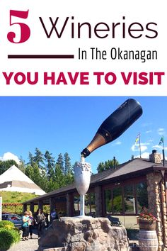5 Okanagan Wineries you have to visit on your next wine tour. Kelowna wineries, Oliver wineries and Summerland wineries included! I love Okanagan wine. Find more travel finds at The Bewitchin' Kitchen.