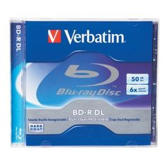 Verbatim 96911 50 GB 6x Blu-ray Double-Layer Recordable Disc BD-R DL, 1-Disc Jewel Case by Verbatim. $12.95. Want to record HDTV programs or back-up your entire photo or music collection?  Verbatim offers BD-R DL media that stores up to 50GB of HD content. Using blue-violet laser technology, this Blu-ray disc can handle up to 1080p resolution and multiple audio formats – perfect for HD video and surround sound. And, all Verbatim Blu-ray discs are treated with ...