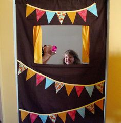 patterns for a doorway puppet stage | Although it may be up for a little while, the kids seem to be enjoying ...