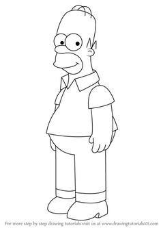 Learn How To Draw Homer Simpson From The Simpsons (The Simpsons . Learn How to Draw Homer Simpson from The Simpsons (The Simpsons drawing tutorials 101 - Drawing Tutorial Drawing Tutorials Online, Flower Drawing Tutorials, Drawing Tutorials For Beginners, Online Drawing, Simpsons Drawings, Disney Drawings, Cartoon Drawings, Easy Drawings, Cartoons To Draw