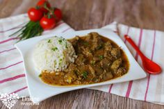z pe?ienok na cibu?ke a ry? Chana Masala, Curry, Beef, Ethnic Recipes, Meat, Curries, Steak