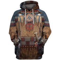 Fashion Hoodie Native Indian armor Printed hoodies Unisex Harajuku streetwear women for men seatshirts sudadera hombre Hoodie Sweatshirts, Native American Shirts, Retro Fashion, Mens Fashion, Outfits Hombre, Denim Jacket Men, Style Casual, Dad To Be Shirts, Harajuku