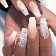 Artificial Nail Tips Initiative Stiletto False Nails Coffin False Nails White Clear French Nail Glitter Acrylic In Short Supply