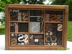 Antique Letterpress Type Graphic Design Letter S Wood Copper Metal Type 54 S 's #Letterpress
