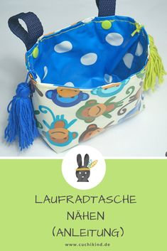 Laufradtasche nähen (Anleitung) Step-by-step instructions for sewing a wheel bag / bag for Puky. Sewing instructions for beginners. Nike Tech, Crochet Blanket Patterns, Crochet Stitches, Knit Crochet, Glands, Diy Bags, Lining Fabric, Beautiful Crochet, Kind Mode