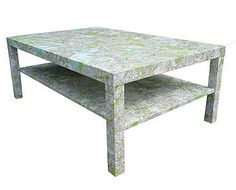 "shabby chic decoupage coffee table in annie sloan ""paris grey"