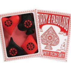 Poker Dog Toys - Set of 4 Boxed -- FunStuffForDogs.com Online Store