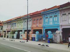 colorful #katong #peranakan #peranakanstylehouse #singapore Village Hotel, Singapore, Street View, Colorful, Instagram Posts