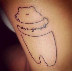Love yourself teddy bear Tattoo