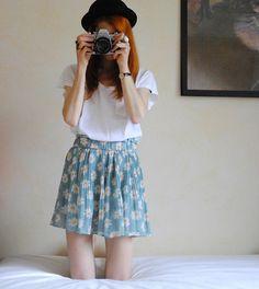Daisy Skirt (by Michaela Scalisi) http://lookbook.nu/look/3559437-Daisy-Skirt