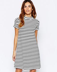 Warehouse Striped Swing Dress