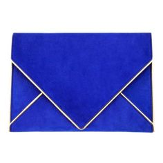Azzaro Blue Clutch (1.455 BRL) ❤ liked on Polyvore featuring bags, handbags, clutches, purses, accessories, leather clutches, cobalt blue handbag, hand bags, blue clutches and genuine leather handbags