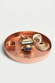 Shop Copper Trinket Tray at Urban Outfitters today. We carry all the latest styles, colours and brands for you to choose from right here. Jewelry Tray, Jewellery Storage, Copper Desk Accessories, Collections D'objets, Urban Outfitters, Copper Decor, Vide Poche, Interior Plants, Throw Cushions
