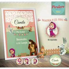 Kit Imprimible Masha Y El Oso - Cumpleaños - Candy Bar - $ 270,00