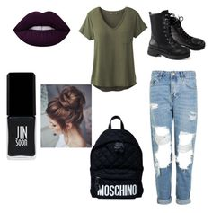 """""""Untitled #1"""" by marievaculova on Polyvore featuring Topshop, prAna, Moschino and JINsoon"""