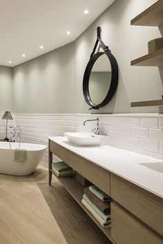 Double Vanity, Bathroom, Glass Display Case, Decorative Lights, Flooring Tiles, Timber Flooring, Living Area, Paint, Interior Architecture