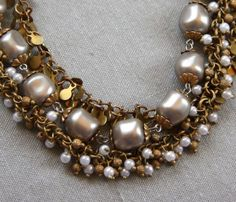 NWT-Vintage-Catherine-Popesco-14K-Gold-Pl-Pearl-3-strand-necklace-Paris-France