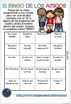 El bingo de los amigos de imageneseducativas.com