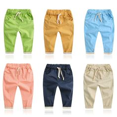 Baby Boys Pants Fashion Loose Trousers Summer Bottoms Harem Long Pants Toddlers Clothes