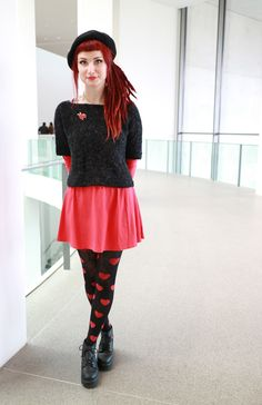 kaninchenherz Patterned Tights, Hipster, Style, Fashion, Bunnies, Heart, Swag, Moda, Hipsters