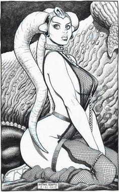 Star Wars: Oola the Twi'lek Dancing Girl-Arthur Adams Comic Art